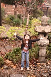 Avery at Shin Park just before a downpour.