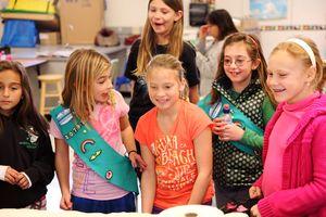 Girls from Viola's GS troop.